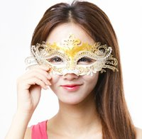 Wholesale Princess Metal Party Mask Halloween Half Face Costume party mask for Christmas Fox carnival halloween masquerade dance Venice mask