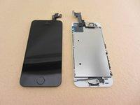 100% Nuevo Original Para iPhone 5S LCD Digitalizador de Montaje del Frente del Reemplazo Con la Cámara Sensor de Proximidad botón Home Flex