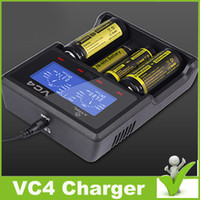 Wholesale Original XTAR VC4 Charger Multifunctional battery charger with LCD display for Li ion Batteries Ni MH battery