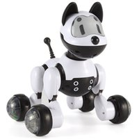 Wholesale Intelligent Electronic Pet Toy Robot Dog Lovely Dogs Flashing Pets Kids Walking Puppy Action Toys with Gesture Sensing