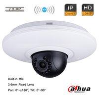 Precio de Mini cámaras wi fi-Dahua CCTV 2.0MP Full HD Wi-Fi IR Mini Pan Tilt Dome Cámara 3.6mm Lente 1080P Mic