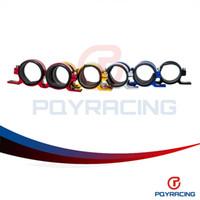Wholesale PQY STORE Dual Double or Twin Fuel Pump Bracket Billet clamp cradle Fuel pump hanger PQY LD2631
