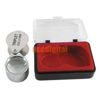 Wholesale Silver x mm Glass Jeweler Loupe Eye Magnifier Magnifying for jewelry coins stamps and antiques