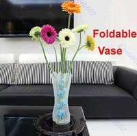 Wholesale 10pcs Foldable Plastic Flower Vase Unbreakable Reusable Home Decor Vase