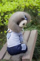 B30 Летняя собака хлопок юбка Платье брюки - Униформа Дизайн Летняя собака Одежда сладкое летнее платье собаки