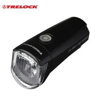 Cheap TRELOCK Professional German Handlebar Flashlight Warning Flash Lamp Bicycle MTB Bike Cycling AA 1.5V Battery Head light Headlamp