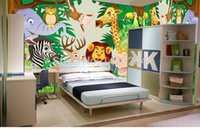 Metallic Wallpapers Fireproof Living Room Animal party 3d wallpaper roll kids wall murals,wallpaper for children's bedroom,papel de parede para quarto