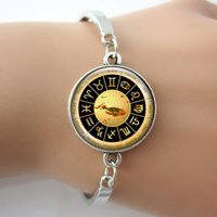 astrology charms - Bracelet Gemini Charm Image Astrology Art bangles Glass cabochon dome picture Good Quality Fashion New Desgin Jewelry