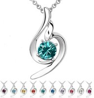 Pendant Necklaces high quality fashion jewelry - Fashion high quality Austrian crystal necklace pendant lucky female angel sweet style jewelry y006