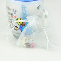 Wholesale 10 Organza gift bag plain solid color candy jewelry organza pouch jewelry storage bag