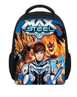 Wholesale 12 Inch D Cartoon Games Max Steel Bag Children School Backpacks Baby Boys Small Bag Max Steel Schoolbag Kids Mochila Infantil