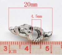 Wholesale 20 Silver Tone Pig Beads Fit Charm Bracelet x13mm Beads Cheap Beads Cheap Beads