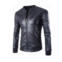 Wholesale Fall New Arrivals Autumn Brand Leather Jacket Men Motorcycle Jacket PY026 Jaqueta Couro Masculino Bomber Leather Jacket Coat PY026