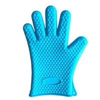 Wholesale 1PCS Home Baking Microwave Oven Cooking Baking Mitts Kitchen Resistant Silicone Gloves Heat Resistant up to F
