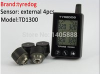Wholesale Original taiwan tyredog TPMS with PSI BAR display measurement external sensors TPMS tire pressure and temperature monitoring