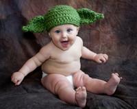 Boy Spring / Autumn Crochet Hats Free Shipping Crochet Pattern Yoda from Star Wars Knitted Hat Baby Boys Girls Infant Toddler Kids Winter Crochet Beanie Photography prop