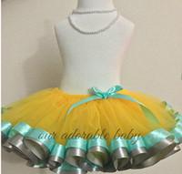 ballerina tutus - 25 colors piece Popular Ballerina Ribbon Trim Petticoat Tutu Skirt Manufacturers China Fluffy Tutu Skirt QX