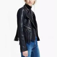 leather jackets for women - 2015 Autumn Winter Women PU Fringe Leather Jacket and Coat veste femme Fashion chaquetas mujer Windbreaker for Women