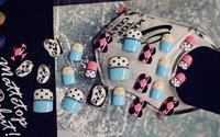 art pandora - Fake Nails Acrylic False Ongle Full Nails Tips Art DIY Japanese Style Pandora Decoration Gift for Grils Lady Manicure