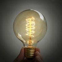 beautiful artistic - E27 artistic beautiful bulb Edison light bulb classical big light bulb watts American retro nostalgia