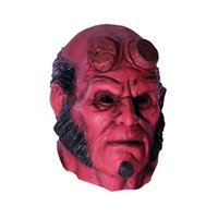 Wholesale Halloween Adult Superhero Roleplay Hellboy Latex Mask
