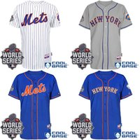 custom baseball jersey - Custom New York Mets Authentic Personalized Home stitched Jersey With World Series Patch Cheap Baseball Jerseys