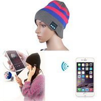 Wholesale 2015 Fashion Design New Soft Warm Hat Wireless Bluetooth Smart Cap Headset Headphone Speaker Mic Whloesale Lucky