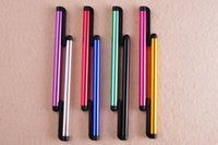 Wholesale 2000pcs Capacitive touch screen pen stylus Pen for iphone s c ipad air Samsung galaxy Note III touchpen