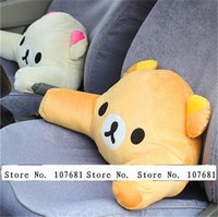 auto lumbar cushion - by EMS Cute Rilakkuma Bear Waist Guard Pillow Car and Office backrest Auto Lumbar Cushion Gift