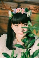 Wholesale Hand Mori Mori Department of antlers headband flower jewelry original system developed camera photo
