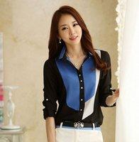 Wholesale New Arrival Fashion Womens Slim Long Sleeve Print Chiffon Blouses Tops blusas blouse Better