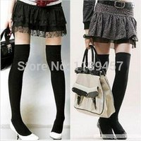 Wholesale 2016 NEW Colors Fashion Sexy Thigh High Over The Knee Socks Long Cotton Stockings For Girls Ladies Women