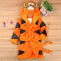 Wholesale Hooded Animal Mouse Minnie Baby Bathrobe Cartoon Baby Towel Character Kids Bathrobe Children s Bathrobe Colors Tiger Bathrobe