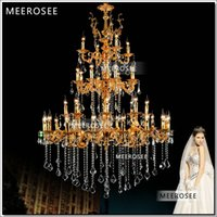 arm project - Sale Rushed Chandelier Large Arms K9 Chandelier Light Tiers Lustre Lamp For Hotel Project Md8859 L36 D1200mm H1650mm