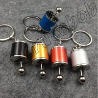 auto parts transmissions - Six speed MT Manual Transmission stick gear Shift knob rod Keychain Auto Part Model Automotive Keyring Key Chain Ring Keyrings Keyfob