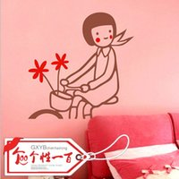 bicycle picture frames - Bicycle girl personality fashion sofa decorative painting picture frame customize