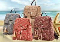 Wholesale Women shoulders bag canvas PU fashion print female bag street leisure trend school bag colors