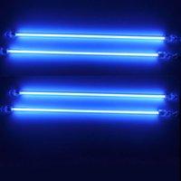 12v ccfl - 4 Piece quot Blue Car Vehicle CCFL Neon Kit Interior Exterior Home PC Lights V