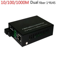 Wholesale 10 m single mode dual Fiber media converter RJ45 fiber media converter fiber sc port gigabit fiber receiver