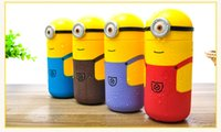 Wholesale Children Water Cup Cartoon Minions Despicable Me Borosilicate Texture Suction Cup ml Christmas Gift Novelty Toy