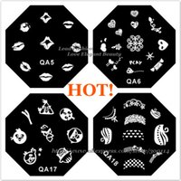 art serial - excellent designs QA serial Nail Art beauy Image Stencil stamping Template nail decoration