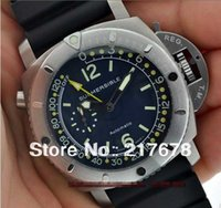 Cheap Top quality Luxury Submersible GMT Pam 307 00307 Pam307 Black Dial automatic Mens Men's Watch Watches