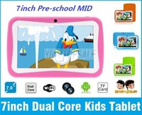 Wholesale Kids Tablet RK3126 Dual Core Mid Android inch HD Screen Capacitive Touch GB Dual Camera With Kids Games Educational Apps