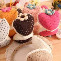 Wholesale B985 new peach heart flower girls plush earmuffs earmuffs ear warm autumn and winter fashion adjustable