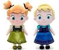 Wholesale Frozen doll cm toy Childhood Elsa Anna Little princess doll plush toys Nice Xmas Gift For Kids Girls baby soft plush toys