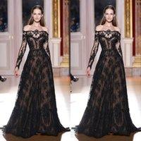 designer wedding dresses - 2015 Designer Off the Shoulder A line Long Sleeve Lace Black Wedding Dress Weding Dress LS091127