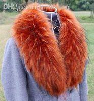 Wholesale Scarf Hat Glove Sets Collars fake fox fur collar imitation raccoon fur collar scarf winter fashion collars scarves