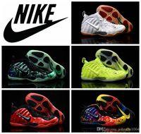 Cheap Nike Air Foamposites One black sliver Mens Basketball Shoes 100% Original Quality Foamposite Shoes all red green Basketball Shoes Sneakers