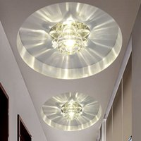 abs contracting - Contracted fashion led aisle lights Crystal lamp living room hallway entrance hole lamp creative home ceiling lamp Specials