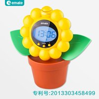 Cheap Flowers style electronic alarm clock with snooze function backlit lazy bedside clock 12 groups of students smarter bell ringing